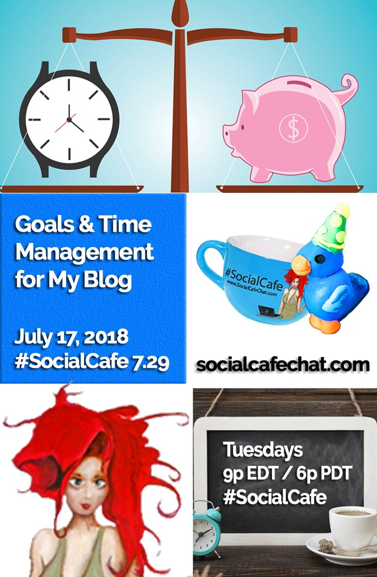 Goals and Time Management for My Blog w/ @SocialWriter of @SocialWebCafe Summary %23SocialCafe
