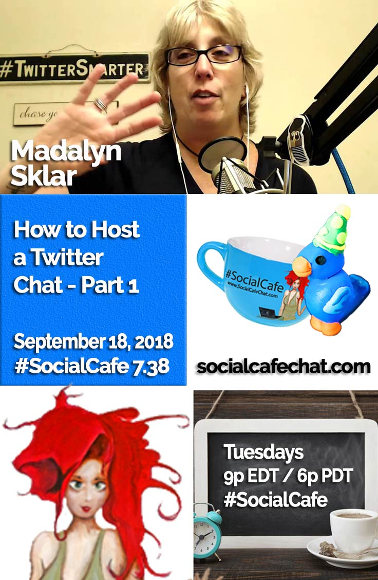 How to Host a Twitter Chat - Part 1 (** Featuring Madalyn Sklar of #TwitterSmarter **) w/ @SocialWriter of @SocialWebCafe Summary %23SocialCafe