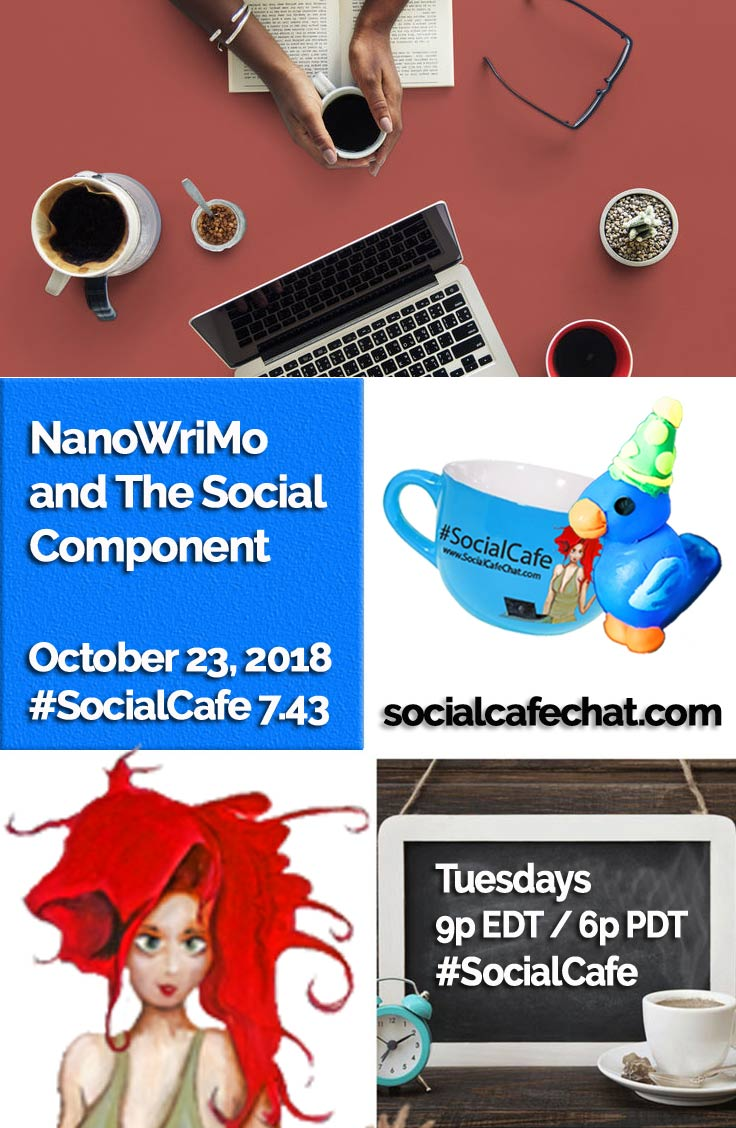 NanoWriMo and The Social Component  w/ @SocialWriter of @SocialWebCafe Summary %23SocialCafe